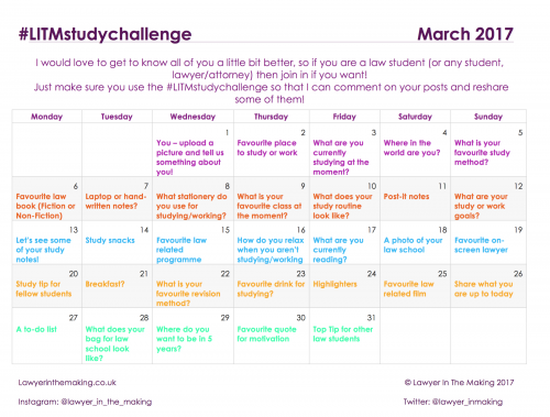 LITM | Instagram Study Challenge March 2017