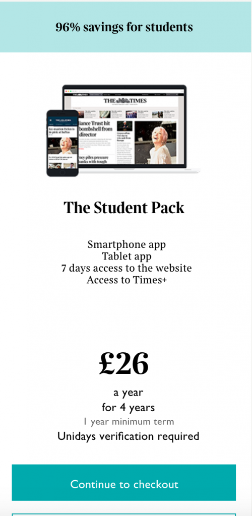 The Times | Student Price