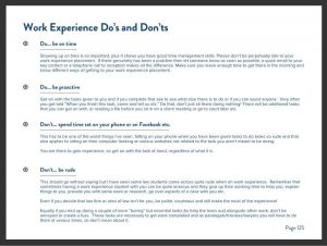 Ebook Sneak Peek - Work Experience Do's and Don'ts