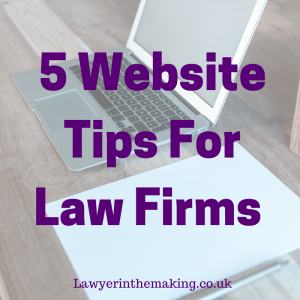 5 Website Tips For Law Firms
