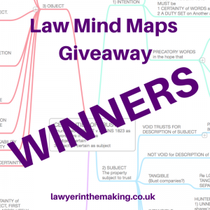 Law Mind Maps Giveaway | Winners