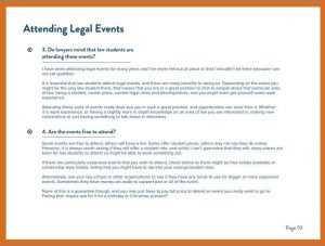 Ebook Sneak Peek - Attending Legal Events